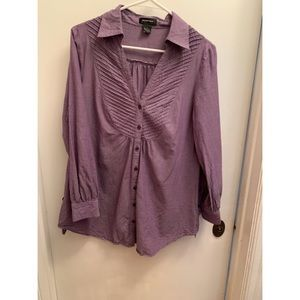 Purple button down tunic shirt